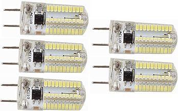 LED Lamp 5pcs,G8 Bi-pin LED Bulb Dimmable 4 Watts 220V 230V 30W Equivalent T4 G8 Base Halogen LED Bulb for Under-Cabinet A...