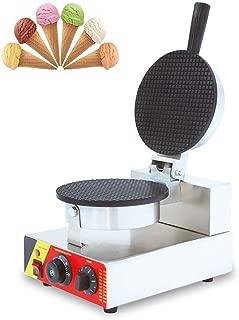 CGOLDENWALL NP-601 Máquina para Hacer Cucurucho de Helado Profesional Gofrera de Rollo de Huevo Máquina de Barquillo Waffle Maker Eléctrica Antiadherente de Acero Inoxidable con Control de Temperatura