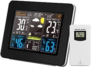 KKmoon Cor Estação meteorológica interna/externa Temperatura sem fio Umidade Barômetro Termômetro Higrômetro Relógios de m...