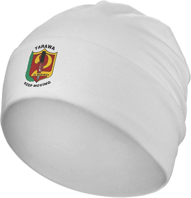 United States Marine Corps 2nd Marine Division Beanie Men Women - Unisex Cuffed Plain Skull Knit Hat Cap