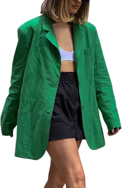 Women's Autumn Winter Lightweight Street Casual Long Sleeve Plaid Suit Coat Raincoat