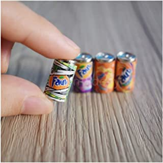 Play Food,4PCS 1/6 Mini Simulation Kids Play Food, Drink Model Pretend Play Food for Pretend Role Playing Christmas Gifts ...