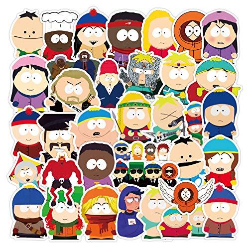 LZWNB South Park Pegatinas alrededor del cuaderno de equipaje, 50 unidades