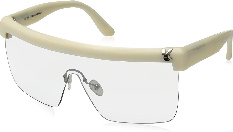 Karl Lagerfeld Sunglasses Kl868s Rectangular Sunglasses, Ivory, 63 mm