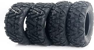Full Set of 4 A033 14 Inch ATV UTV 6 PR Tires Pair Front 26x9-14 & Pair Rear 26x11-14