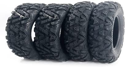 MOTOOS Complete Set of 4 All Terrain ATV/UTV Tires 26x9-12 Front & 26 X 11-12 Rear Tubeless 6PR Deep Mud Powerful Durable