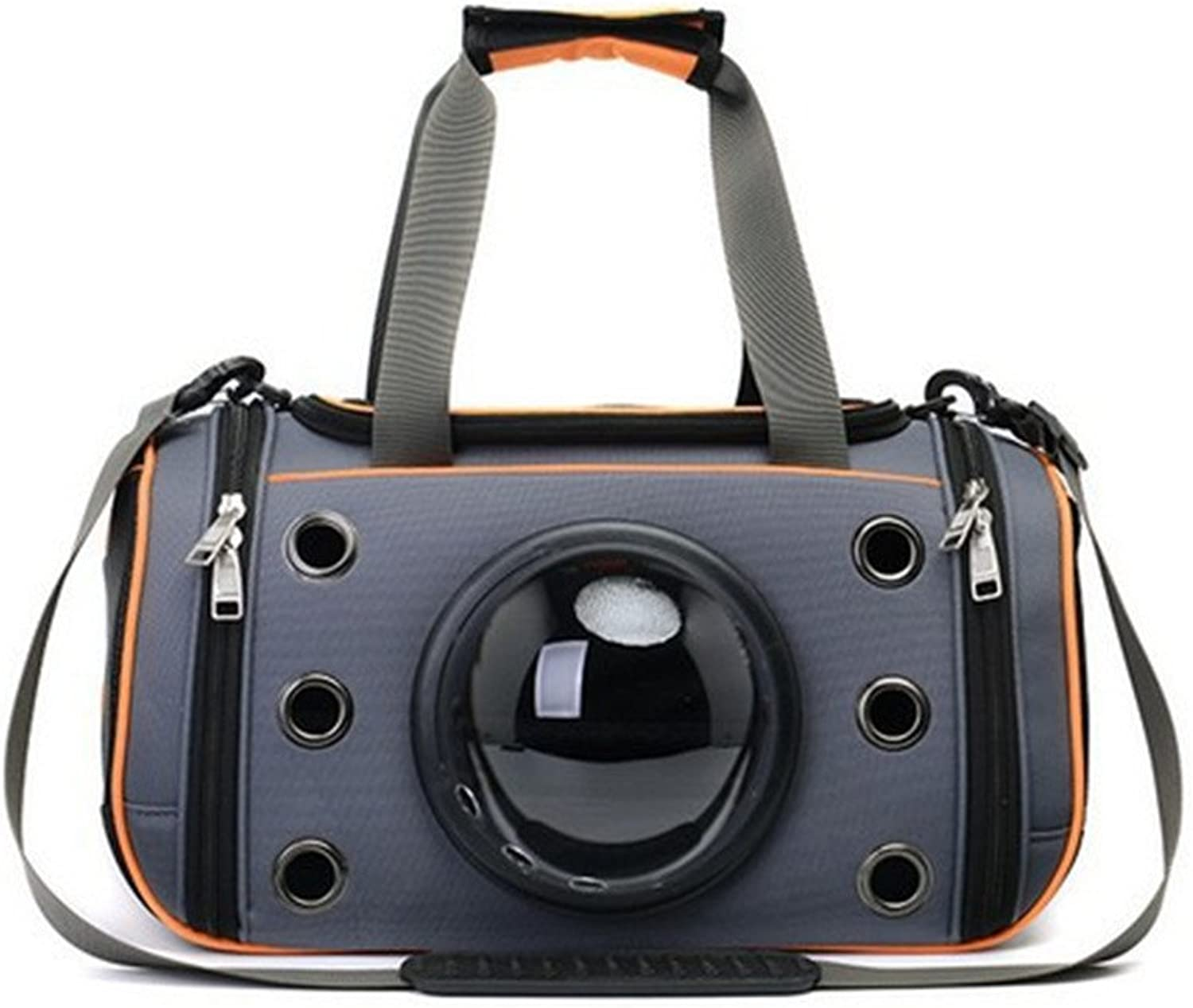 Space Capsule Pet fornisce Cat Astronaut Teddy Dog Pet bag Cat pack Portable Dog pack Space travel chalet Dimensione bag (Colore: Orange, Dimensione: M)
