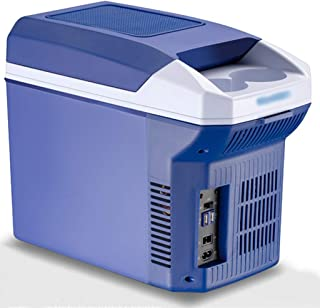 LJMG Outdoor Refrigerators Bedrooms Mini Fridge Freezer,Car Mini Retro Refrigerator 8L,Mute Compact Fridge 12V DC /220V AC,Fruit Cold Storage,Energy Saving,Open The Door Vertically
