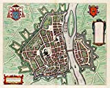 MAP Antique 1649 BLAEU MAASTRICHT City PLAN Large Replica