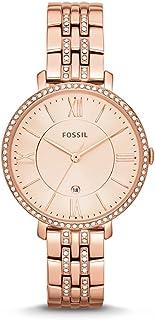 Fossil Women's Jacqueline Rose Goldtone Bracelet Watch with Glitz Bezel