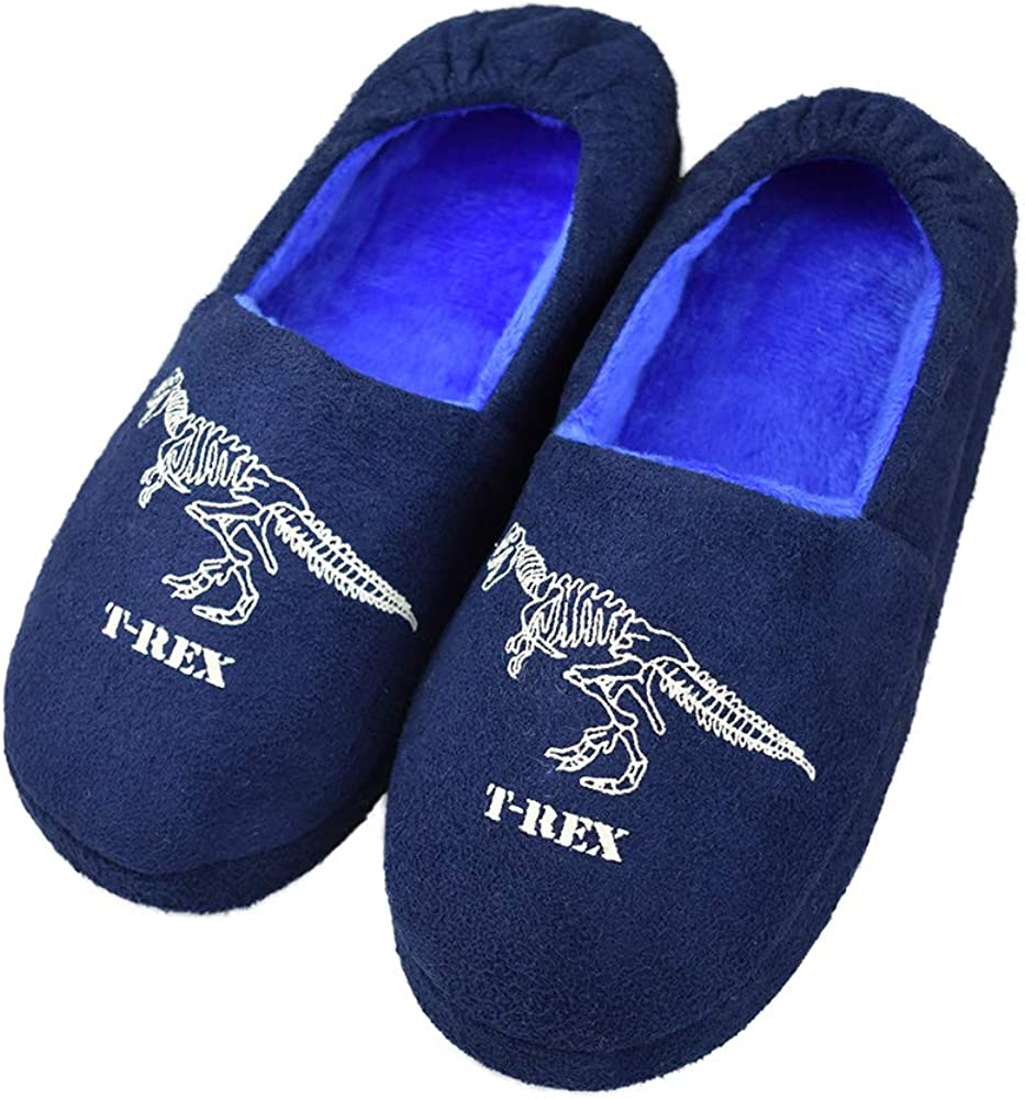 Tirzrro Kids Big Boys Warm Fixed price for sale Beauty products Slippers Indoor Memory Soft with Foam