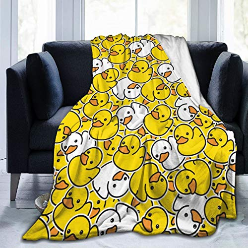 FeHuew Cartoon Cute Duck Childish Soft Throw Blanket 40x50 inch Lightweight Warm Flannel Fleece Blanket for Couch Bed Sofa Travel Camping for Kids Adults