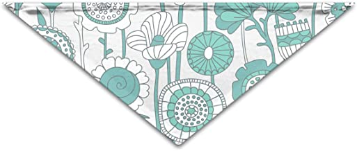 """Grebsw Green Lotus 1 Soft Washable Pet Triangle, 11.8"""" 25.6"""", Suitable for Puppies, Kittens, Rabbits"""