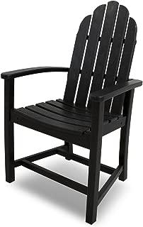 POLYWOOD ADD200BL Classic Adirondack Dining Chair, Black