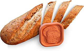 JBK Pottery Bread Saver, 2.25 x 2.25 Inches, Terra Cotta