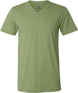 Canvas Unisex Jersey Short-Sleeve V-Neck T-Shirt, Large, HEATHER GREEN