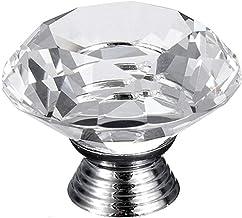 Handvatten 40mm Kristal Glas Deurknoppen Keuken Meubilair Lade Kast Trek Handvat voor Deur Kast Knoppen Meubilair