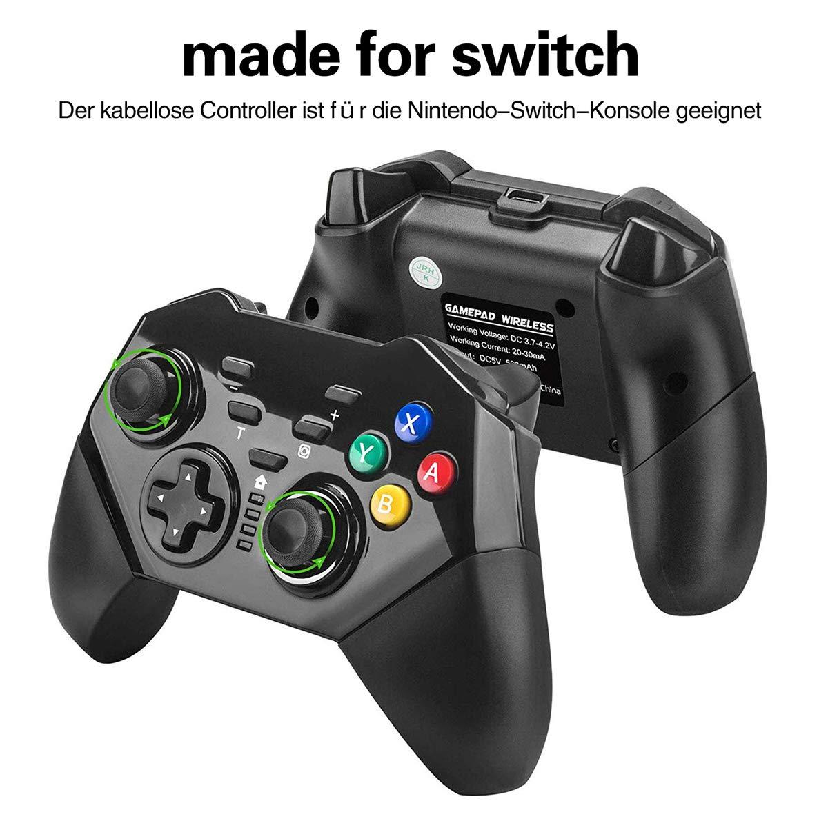QULLOO Nintendo Switch Mando Controller Wireless Pro Controlador Inalámbrico Gamepad Bluetooth Controller Joypad Joystick con Turbo y Dual Shock Functions para Nintendo Switch: Amazon.es: Electrónica