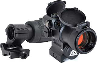 AT3 Magnified Red Dot with Laser Sight Kit - 2 MOA Red Dot with Laser Sight and 3X Magnifier (Red Laser)