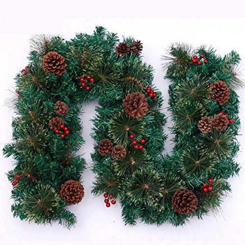 GYH Sapin de Noël - 2.7M Décorations de rotin décoratif en rotin décoratif Porte pin décoratif pin /& (Couleur : Green)