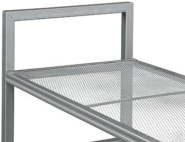 4 Tier Wire Garage Storage Rack Shelf Microwave Oven Stand Kitchen Cart on Wheel Rolling cart Kitchen cart Rolling Storage ca