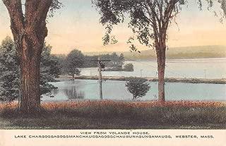 Webster Massachusetts Lake Chargoggg View from Yolande House Postcard JF685105