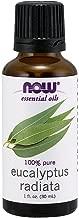 Now Essential Oils, Eucalyptus Radiata Oil, Revitilizing Aromatherapy Scent, Steam Distilled, 100% Pure, Vegan, 1-Ounce