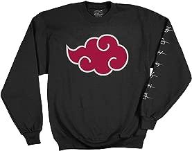 Ripple Junction Naruto - Shippuden Adult Akatsuki Cloud Anti Leaf Symbols Fleece Crew Sweatshirt