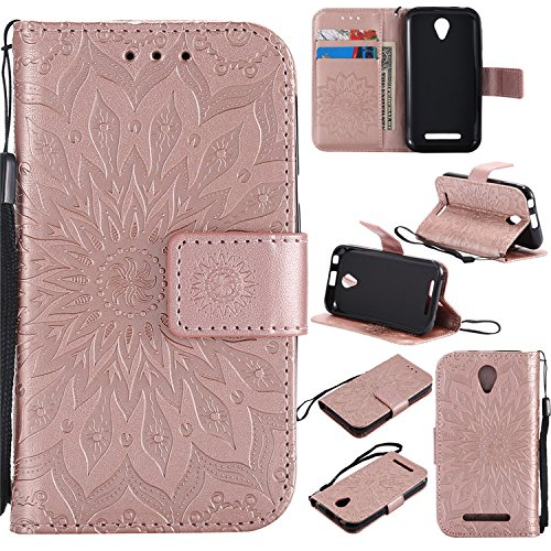 Nutbro ZTE A110 L110 Flip Case, ZTE Blade A110 Phone Cases, [Stand Feature] Premium Magnetic PU Leather Wallet with Card Slot Folio Flip Case Cover for ZTE Blade A110