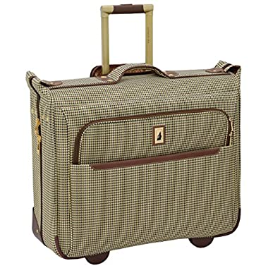 London Fog Cambridge II 44  Wheeled Garment Bag, Olive Houndstooth