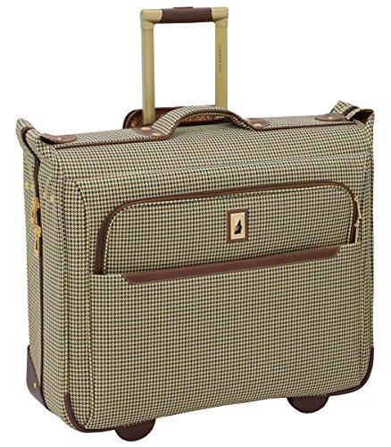 "London Fog Cambridge II 44"" Wheeled Garment Bag, Olive Houndstooth"