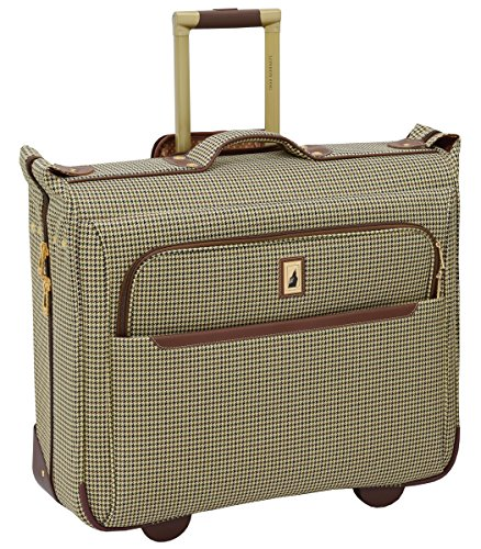 London Fog Cambridge II 44' Wheeled Garment Bag, Olive Houndstooth
