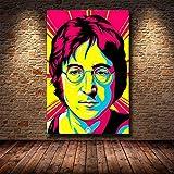 Wfmhra Celebrity Lienzo Pintura Mural Sala de Estar Imagen Artista Pop Moderno decoración del hogar 50x75 cm sin Marco