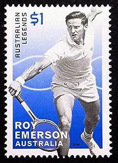 Roy Emerson, Australian Legends, Tennis -Handmade Framed Postage Stamp Art 21825AM