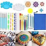 Mandala Werkzeug Dotting Tools,35 Stück Dot Painting Werkzeug für Acryl Kits Pinsel Farbwanne zum Malen von Steinen Färben Zeichnen und Zeichnen von Kunstgegenständen.
