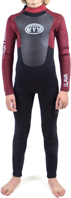 Animal Junior Lava 5 5 5 4   3mm GBS Neoprenanzug mit Reißverschluss hinten in Biking rot - Neoprenanzug aus Neopren und AK Knieschützern - Easy Stretch B07H9QSCHF  Klassischer Stil 713793