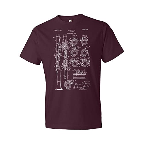 c157e047b Patent Earth Clarinet T-Shirt, Musician Gift, Recording Studio, Music  Teacher,