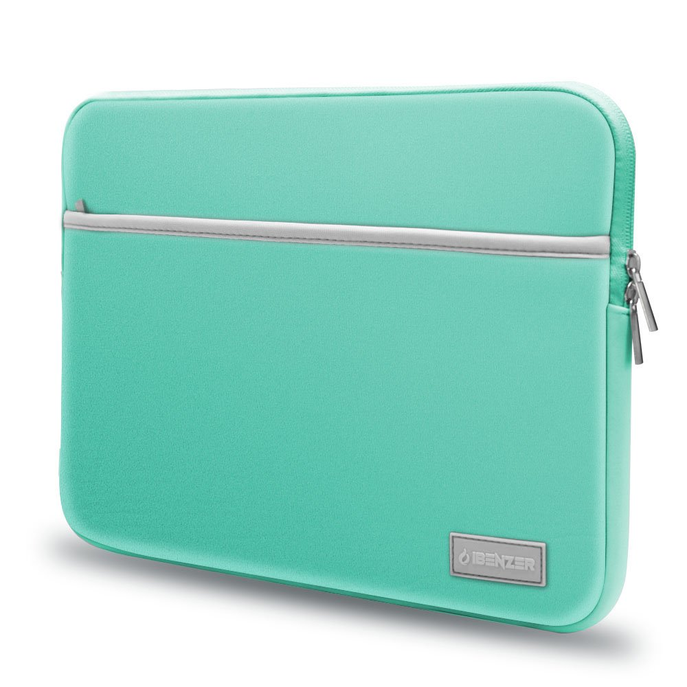 """iBenzer Basic 13.3"""" Neoprene Protective Laptop Case Sleeve Bag with Accessory Pocket for 13-13.3 Inch Laptop, MacBook Pro 13, MacBook Air 13, Turquoise, BG13TBL"""