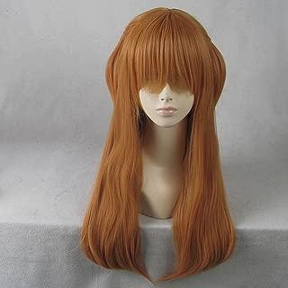 EVA Soryu Asuka Langley Orange 70CM Long Anime Cosplay Wig + Free Wig Cap