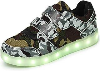 Zapatos Led Niños Niñas, 7 Color USB Carga LED Zapatillas Luces Luminosos Zapatillas Regalo de Pascua.
