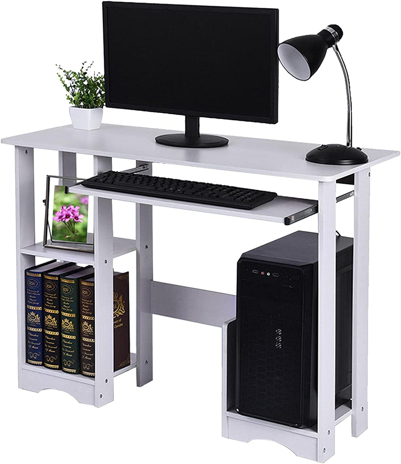 Computer Desk with Pull Out Keyboard-UINKISY 35inch Limited price sale Minim Modern shop
