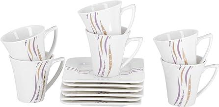 Royalford Cup & Saucer 12pcs (Porcelain)