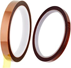 ASPEN BURG 2 Rolls (10mm and 5mm) High Temperature Heat Resistant Kapton Tape Polyimide Film Adhesive Tape