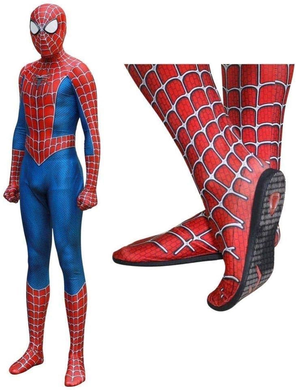 autorización oficial Spiderman CosJugar Traje MásCochea De Lente Lente Lente Adulto Halloween Disfraces Fiesta Disfraces De Disfraces Avengers Iron Siamese Tights,Man-XXL  el más barato