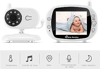 Monitor de beb/é inal/ámbrico de 7 pulgadas,Vigilabeb/és Inal/ámbrico,Monitor de Beb/é Inteligente Beb/é Monitor Digital Compatible con Infrarrojos Sala de Visi/ón Nocturna Audio Comunicaci/ón Bidireccional