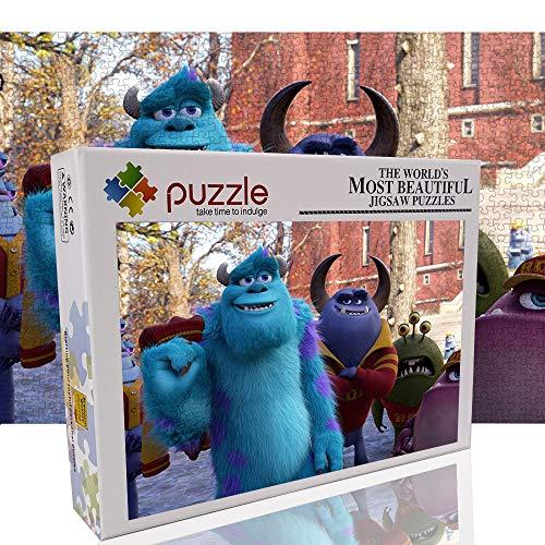 James P. Sullivan - Rompecabezas clásico de 1000 Piezas para Adultos niños Monster University Rompecabezas Grande decoración única para el hogar (70x50 cm)