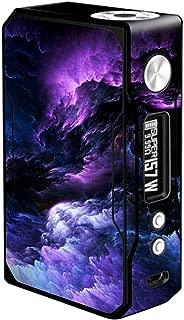 Skin Decal Vinyl Wrap Voopoo Drag 157W TC Resin/Reg. Vape Mod Stickers Skins Cover/Purple Storm Clouds