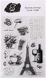 Inkadinkado Eiffel Tower Paris Wood Stamp for Arts and Crafts 4.75 W x 2 L