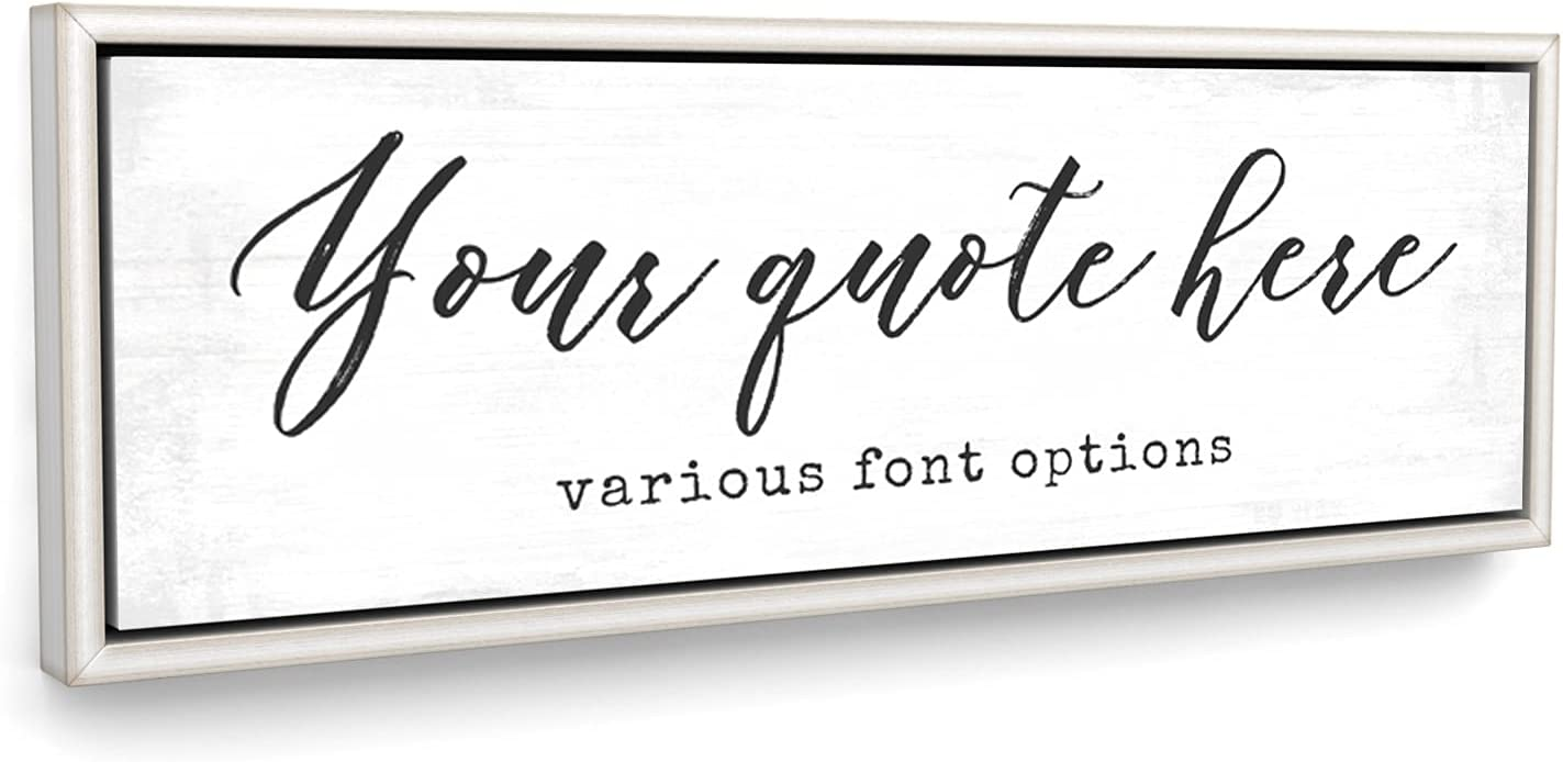 Customized Quotes Max 66% OFF on Canvas Wall Motivational Personalized Art Max 85% OFF
