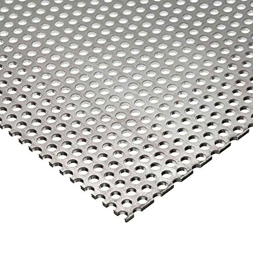 """Online Metal Supply Carbon Steel Perforated Sheet 0.060"""" x 12"""" x 24"""", 9/64"""" Holes"""